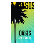 311 Oasis Palm  Tree Blue Pack Of Standard Business Cards