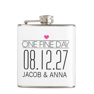 311 One Fine Day Wedding Flask