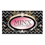 311 Opulent Gold Pink Leopard Premium Pearl Paper Business Card Templates