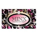 311 Opulent Hot Pink Leopard Premium Pearl Paper Business Cards