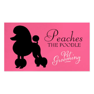 311 Peaches the Poodle Pet Grooming Pack Of Standard Business Cards