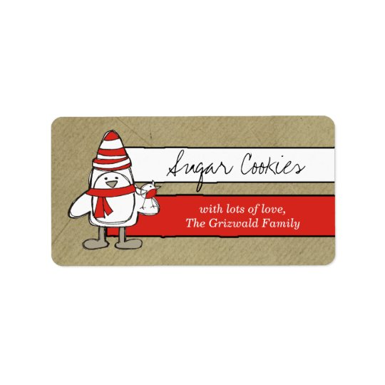 311-Penguin & Friend Label Sticker
