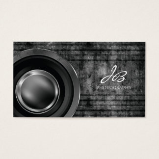 311 Photography Business Card Black Metal Grunge
