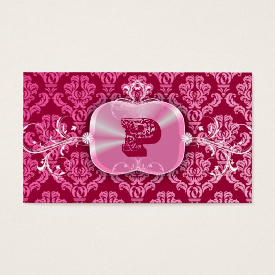 311-Pink Decadence | Pink Rouge Business Card