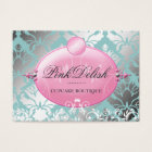311 Pink Delish Version 2 Teal 3.5 x 2.5 Business Card
