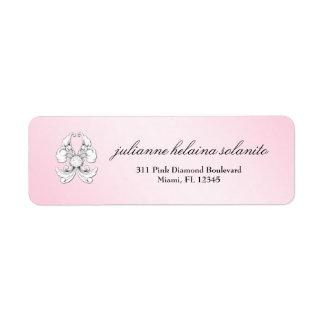 311-Pink Diamond De Luxe Return Address Label