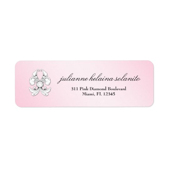 311-Pink Diamond De Luxe Return Address Label