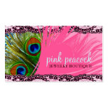 311 Pink Peacock Lace Business Card Templates