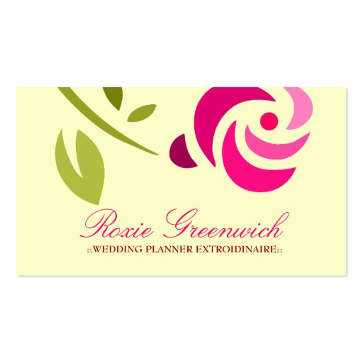 311-PINK ROSE EXTROIDINAIRE BUSINESS CARD TEMPLATE