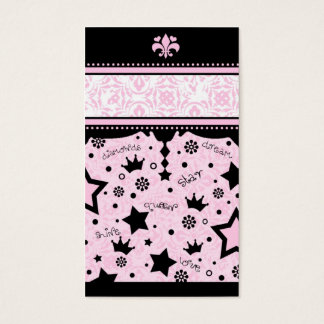311 PINK STAR NAME CARD
