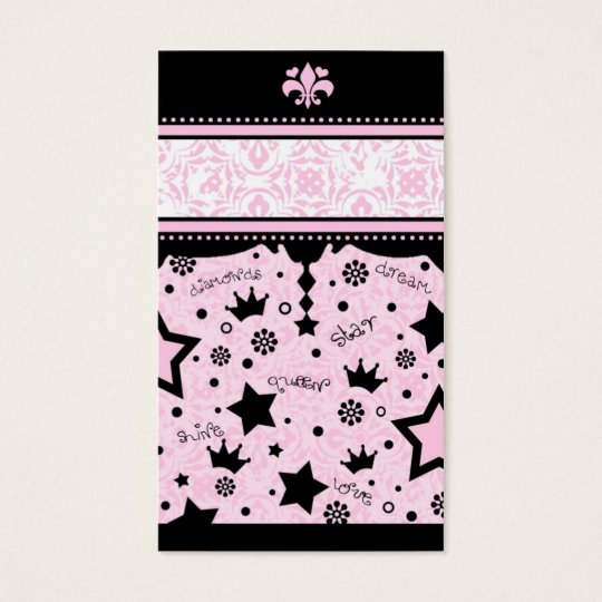 311 PINK STAR NAME CARD