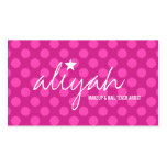311 Pink Star Polka Dots Business Card Template