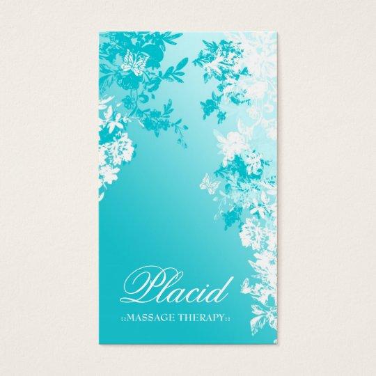 311 PLACID GARDEN BLUE FADE BUSINESS CARD
