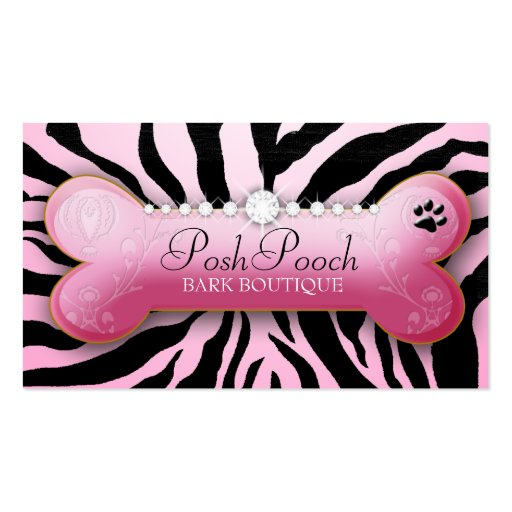 311 Posh Pooch Pink Zebra Pack Of Standard Business Cards
