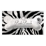 "311 Posh Pooch Pink Zebra ""Silver"" Business Cards"