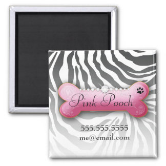 311 Posh Pooch Zebra Square Magnet
