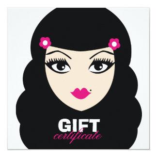 311 Pretty Pinup Gift Certificate 13 Cm X 13 Cm Square Invitation Card