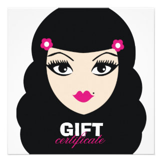 311 Pretty Pinup Gift Certificate Custom Announcements
