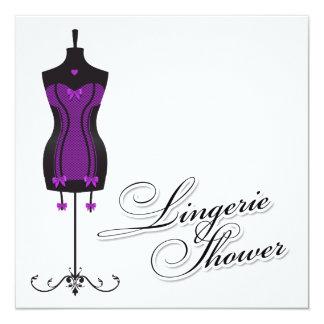 311-Purple Lingerie Mannequin Card