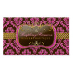 311-Raspberry Macaroon Damask Pack Of Standard Business Cards