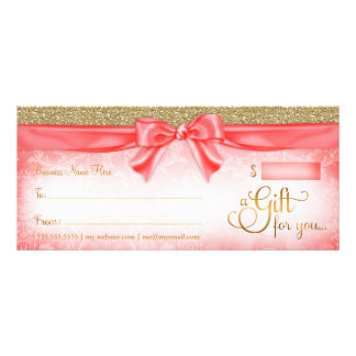311 Red Faux Glitter Gift Certificate