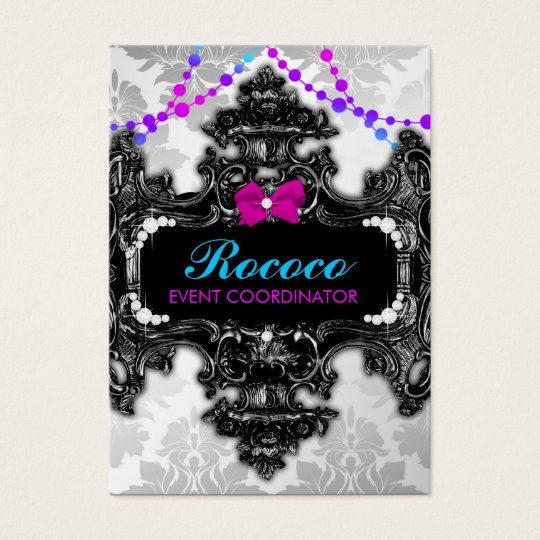 311 Rococo Wonderland Colourful Business Card