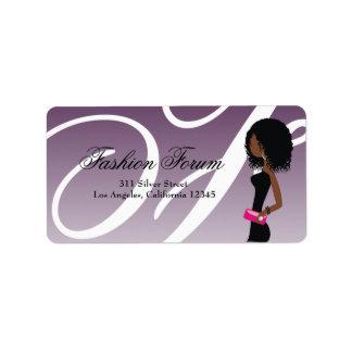 311 Sassy African American Fashionista Label Address Label