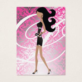 311-Sassy Fashionista Monogram Pink | Damask