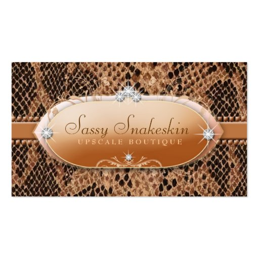 311 Sassy Snakeskin Business Card Template
