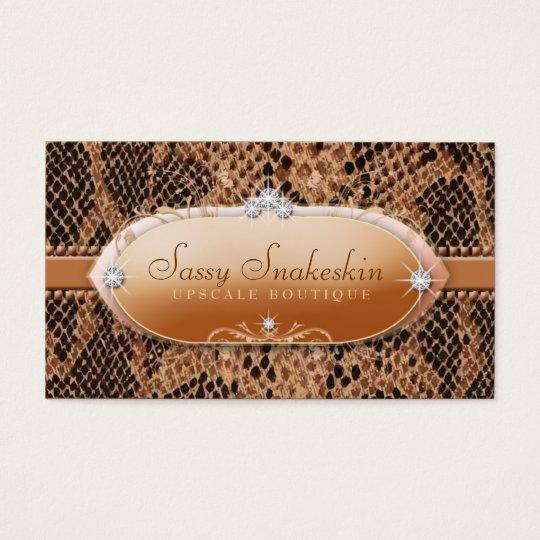 311 Sassy Snakeskin Business Card