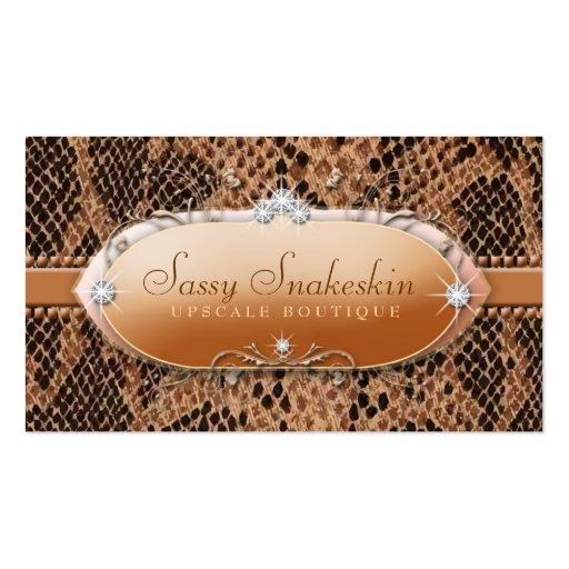 311-Sassy Snakeskin Business Cards