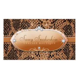 311 Sassy Snakeskin Business Card Template