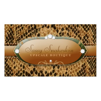 311-Sassy Snakeskin - Gold & Green Pack Of Standard Business Cards