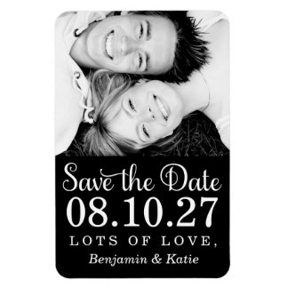 311 Save the Date Photo Magnet Black