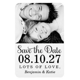 311 Save the Date Photo Magnet Black White
