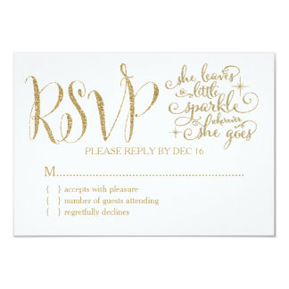 311 She leaves a little Sparkle RSVP Card