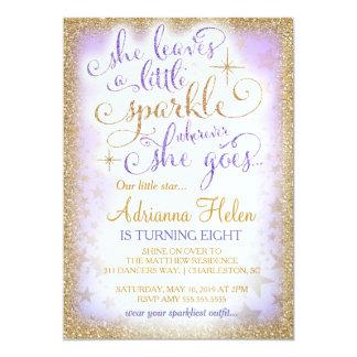 311 She Leaves a Little Sparkle Wherever Purple 13 Cm X 18 Cm Invitation Card