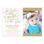 311 She Leaves a Little Sparkle Wherever She Goes 13 Cm X 18 Cm Invitation Card