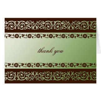 311-Sheer Extravagence Moss Brown Note Card