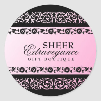 311-Sheer Extravagence Pink 2 Round Sticker