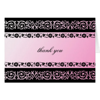 311-Sheer Extravagence Pink 2 thank you Note Card