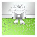 311-Silver Divine Bow | Lime Flourish Sweet 16