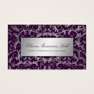 311-Silver Divine | Eggplant Business Card