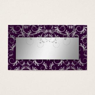 311 Silver Divine Eggplant Place Card