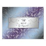 311-Silver Divine Hydrangea RSVP 11 Cm X 14 Cm Invitation Card