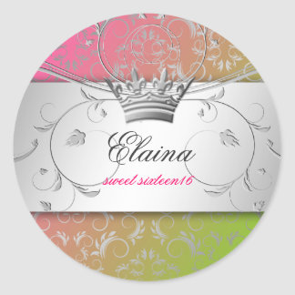 311-Silver Divine   Lollipop Sticker