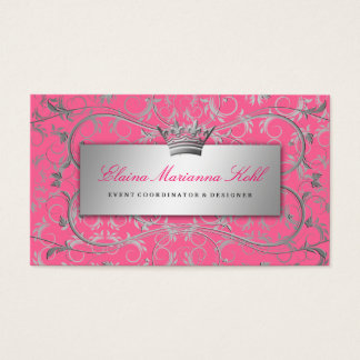 311-Silver Divine | Luscious Pink Business Card
