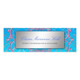 311 Silver Divine Pink Swirls Blue Tropical Fade Business Card