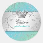 311-Silver Divine | TurquoiseLime Sticker