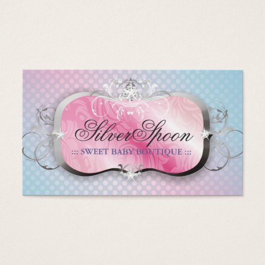 311-Silver Spoon | Baby Boutique Business Card